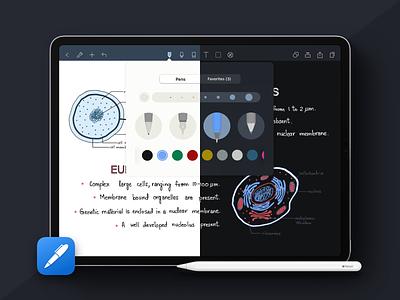 Noteshelf Dark 🌗 ux ui dark mode darkmode iphone ipad ios noteshelf