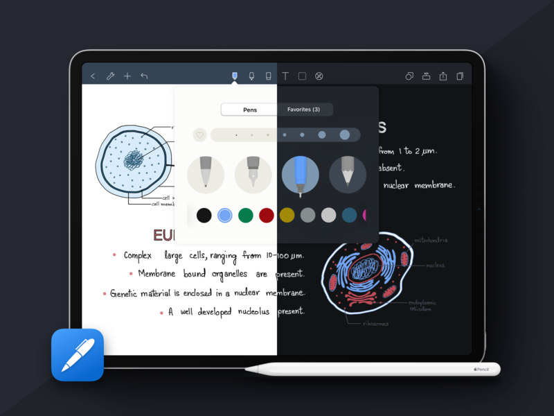 Noteshelf Dark 🌗 ux ui dark mode darkmode iphone ipad ios noteshelf