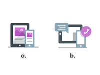 Mobile Icon: A or B?
