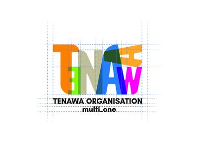 Tenawa Brand identity online concept type vector logo illustration icon flat design branding