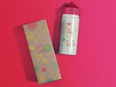 Brand Guide vapor lab type digital vector illustration flat concept online icon design branding