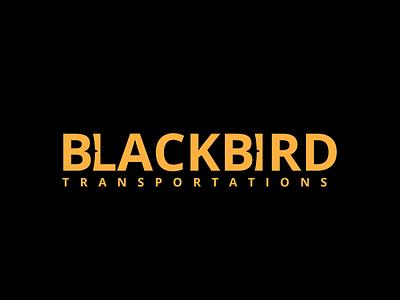 Black Bird Logo limousine taxi vip transportation car type vector logo illustration icon flat design branding