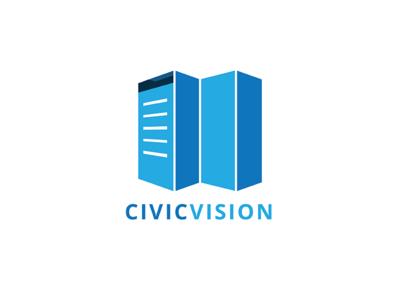 Civic Vision Logo developement develope city maps bulding civic vision technology browser data type vector logo illustration icon flat design branding
