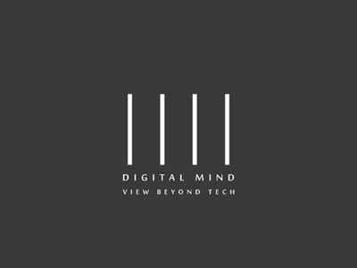 Digital Mind Logo analog code online data mind technology tech digital type vector logo flat illustration icon design branding
