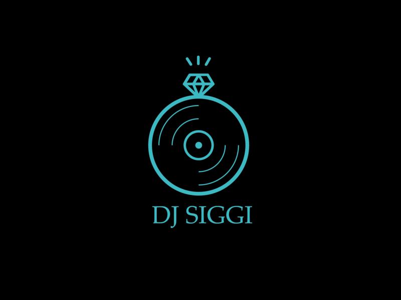 Dj Siggi Logo vedio photograhy event ring wedding dj type vector logo illustration icon flat design branding