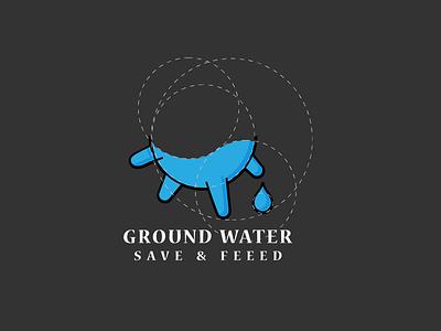 Wj Logo underground pump water type vector logo illustration icon flat design branding