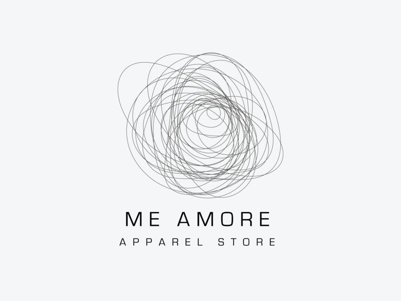 Iammore Logo textile cloth fashion sewing apparel type vector logo illustration icon flat design branding