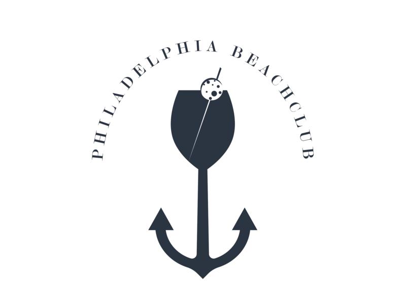 Placencia Beach Club Logo boat night club beach bar beach type vector logo illustration icon flat design branding