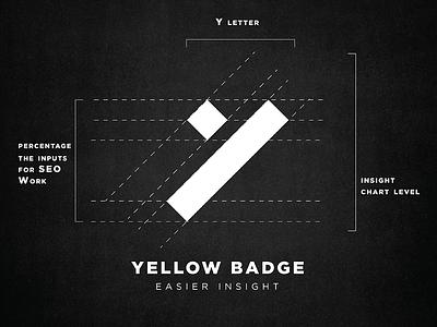Yellow Badge Logo digital search seo type vector logo illustration icon flat design branding