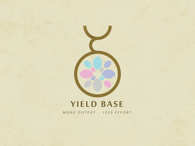 Yield Base Logo base pregnancy pregnant type vector logo illustration icon flat design branding