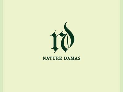 Nature Damas Logo leaf logo nature logo nature leaf type vector logo illustration icon flat design branding