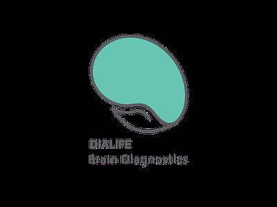 brialife logo diagnostic brain logo brain color technology online data concept type vector logo illustration icon flat design branding