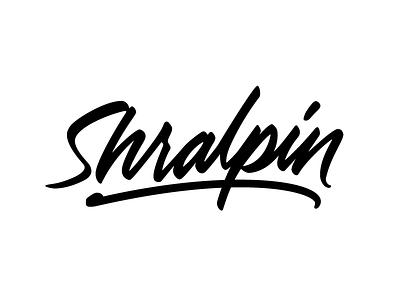 Shralpin vector pen tool wacom ai illustration handwriting paint brush cursive calligraphy lettering logotype logo
