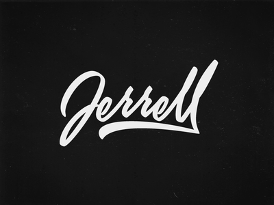 Jerrell vector pen tool wacom ai illustration handwriting paint brush cursive calligraphy lettering logotype logo
