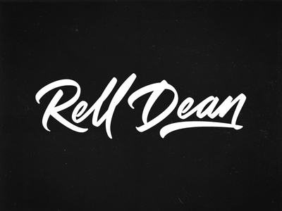 Rell Dean vector pen tool wacom ai illustration handwriting paint brush cursive calligraphy lettering logotype logo