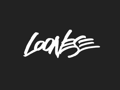 Loonese branding vector brush type ai illustration handwriting paint brush graffiti brush lettering logotype logo