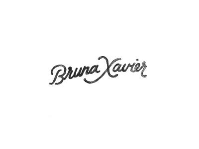 Bruna Xavier Draft hand lettering cursive branding illustration handwriting pencil sketch lettering logotype logo