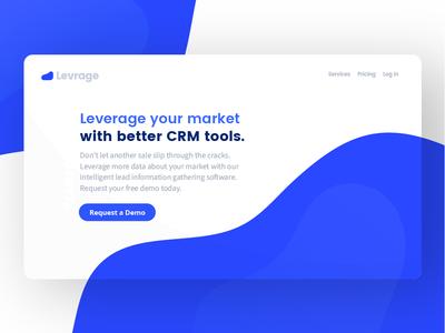 Levrage - Landing Page Concept