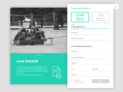Daily UI challenge #dailyui 001- sign up signup dailyui