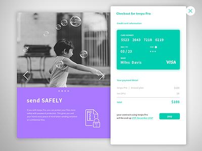 Daily UI challenge #dailyui 002- Credit Card Checkout uidesign ui checkout card credit dailyui