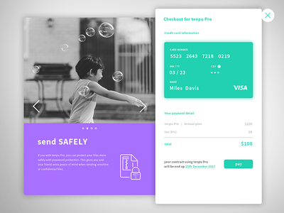 Daily UI challenge #dailyui 002- Credit Card Checkout