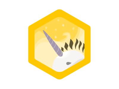 Narwhalicorn Spotter - Badge Design wefunder scouts narwhalicorn badge