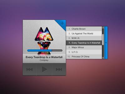 Small music widget