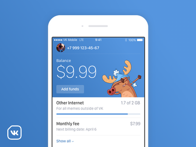 VK Mobile communications apple app vkontakte vk operator mobile mvno ios