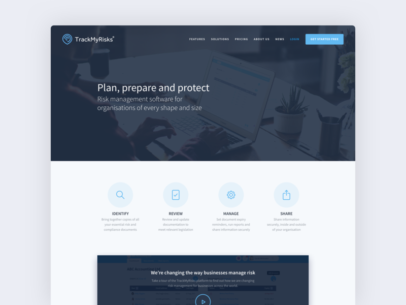 TrackMyRisks branding web minimal icon flat ux ui design