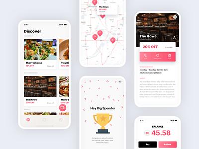 Grubkoin discount coins tabs grub map restaurant ios apple food app food