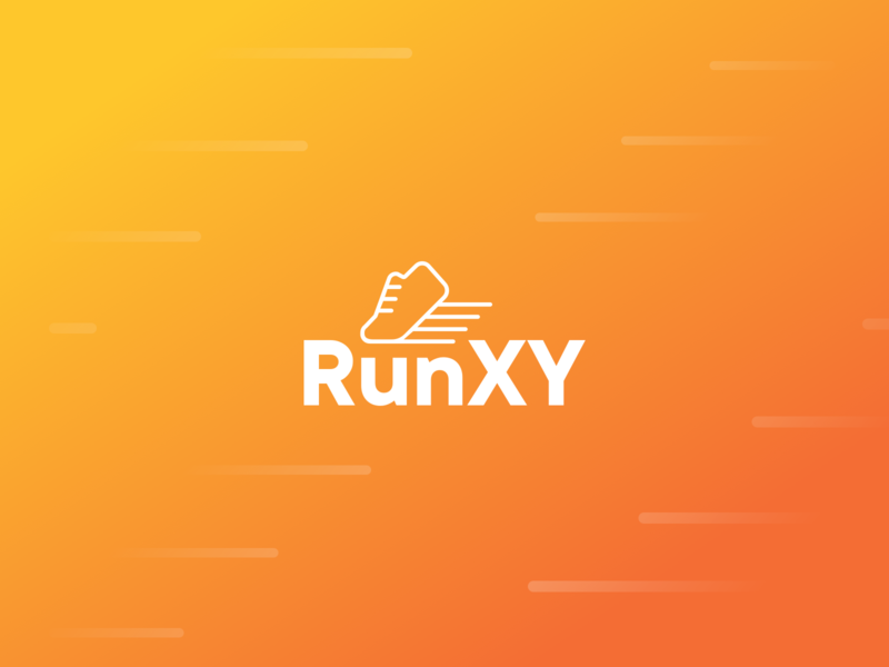 RunXY Logo animation trainer sneaker shoes ios app fitness run brand logo