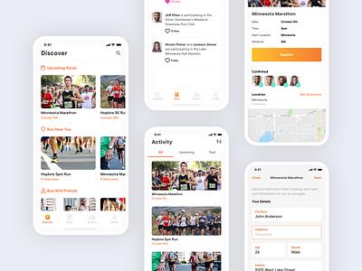 RunXY ui ux design icons tabs iphone ios app ios health running fitness app