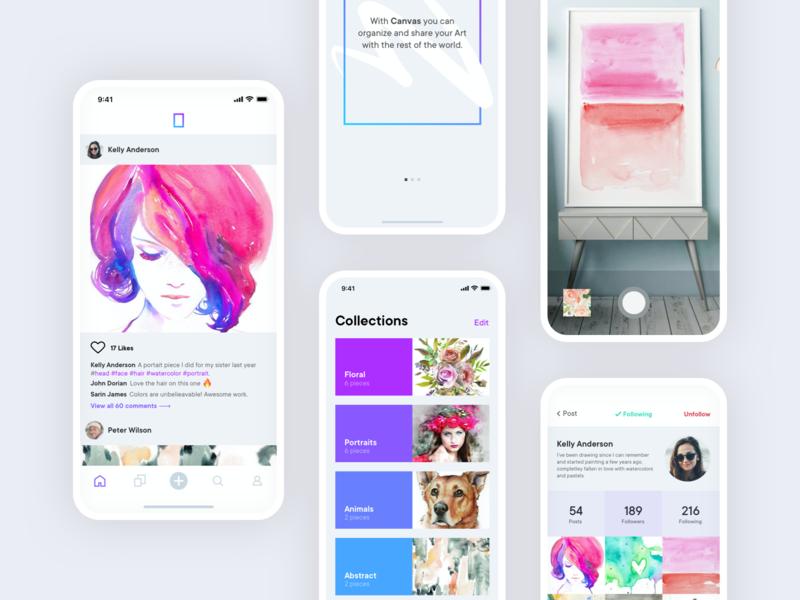 Canvas iphone app ios artists art canvas