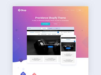 Providence Shopify Theme ecommerce shopify landing page ui ux