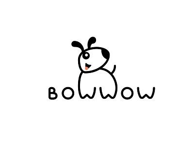 Dog logo Bow wow animal logo pet shop pet logo cute logo dog logo doggy dog logo a day logo