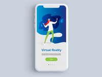 Virtual Reality mobile app adaptation / Main page design