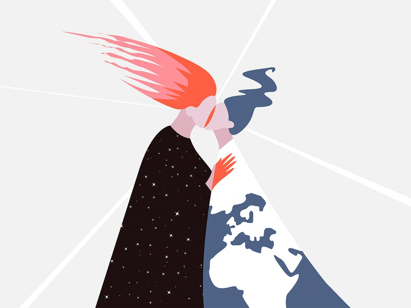 The end of the world apocalypse space artwork vectorillustration marinawino illustration