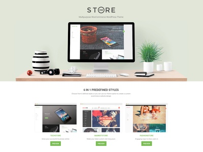 DW Store Landing Page woocommerce landing page one page wordpress