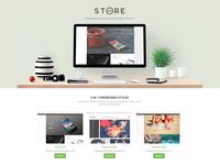 DW Store Landing Page