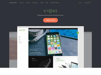 DesignWall September Homepage call to action website hero homepage
