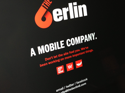 The Berlin 6 Launch Page launch coming soon under construction orange black type web website mobile