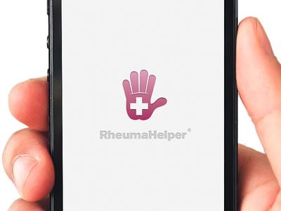 RheumaHelper App logo ios iphone launch medical hand pink