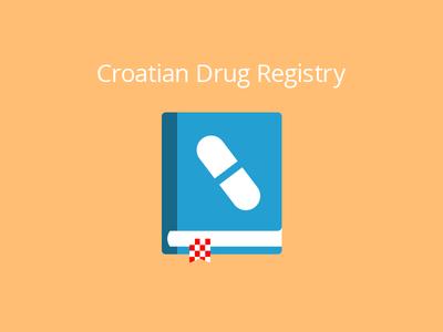 Croatian Drug Registry Complementary croatia drug registry database medication pill blue orange red flat