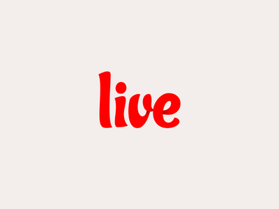 Live live life health wellness new app launch red minimal