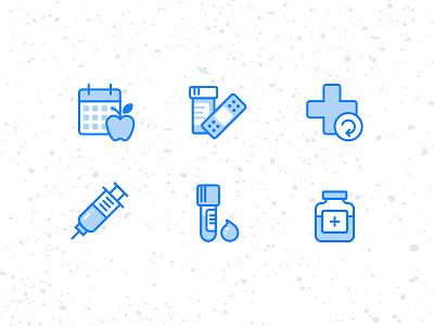 Medical Illustrations kit icons blue illustration app health medical circle medical