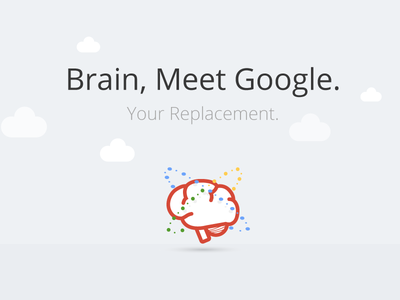 Brain, Meet Google tbt clouds orbit grey illustration replacement google brain