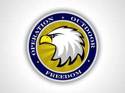 Oof Concept seal logo military wounded verterans eagle bird