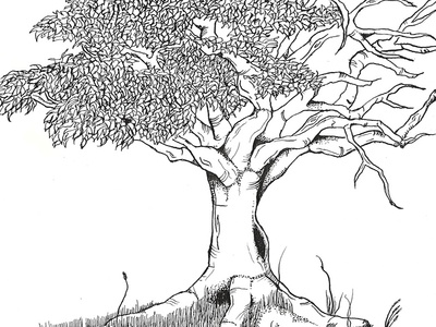 Tree - From death to life tree death life illustration drawing sketch