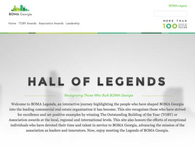 Bomalegends drupal 7 web design