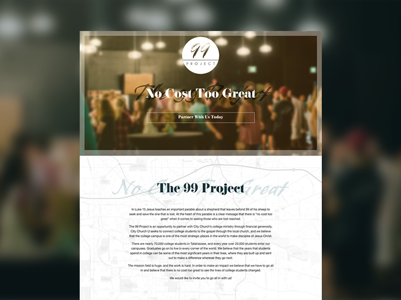 The 99 Project website design web tallahassee